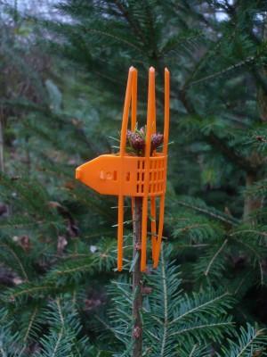 orange Verbissschutz-Manschetten